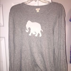 Women's xxl j crew elephant sweater